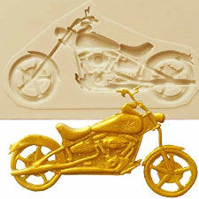 Motorbike silicone mould, 6.7x3.4cm
