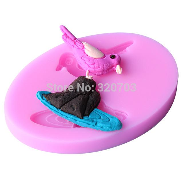 Bird on rock silicone mould