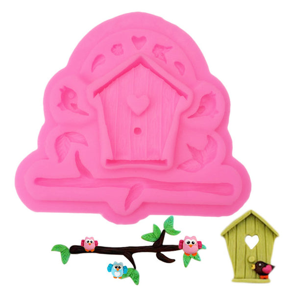 Birdhouse silicone mould, 5.5x4.5cm