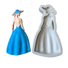 Fashion Lady Silicone mould, 15x7.9cm