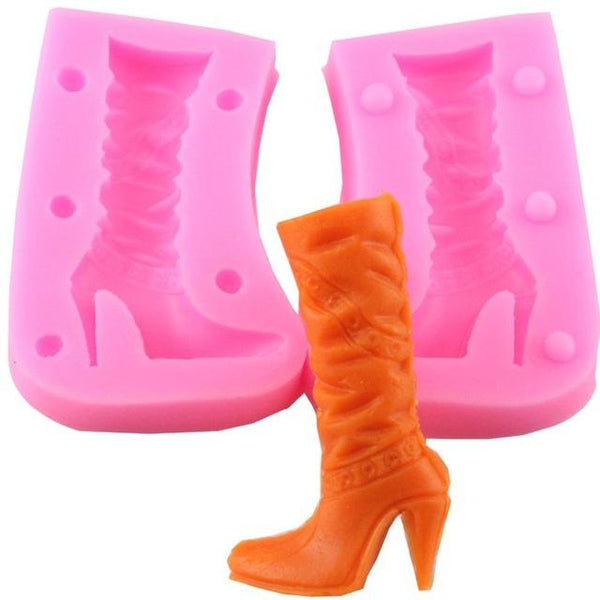 3d Boot silicone mould 6cm