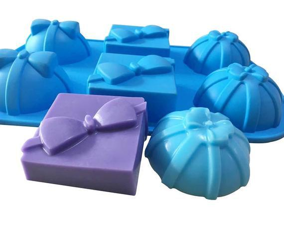Gift box silicone soap mould. baking tray