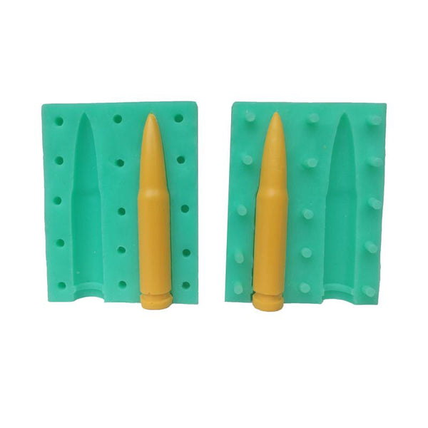 3D Bullet silicone mould, 5.5x1cm. Army