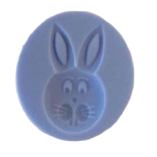 Easter bunny silicone mould, 3x4.8cm
