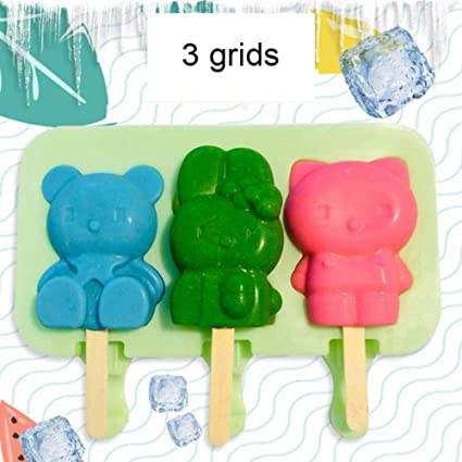Siliko Ice Cream cakesicle  popcicle mould Bear, bunny, kitty