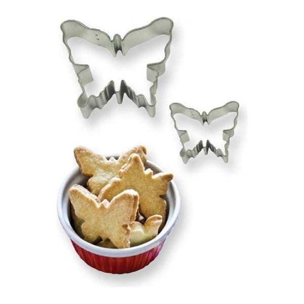 PME Butterfly metal cutter set, 8x7cm, 4.5x4cm