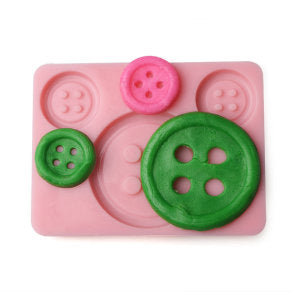 Buttons silicone mould, 4.2cm, 2.1cm