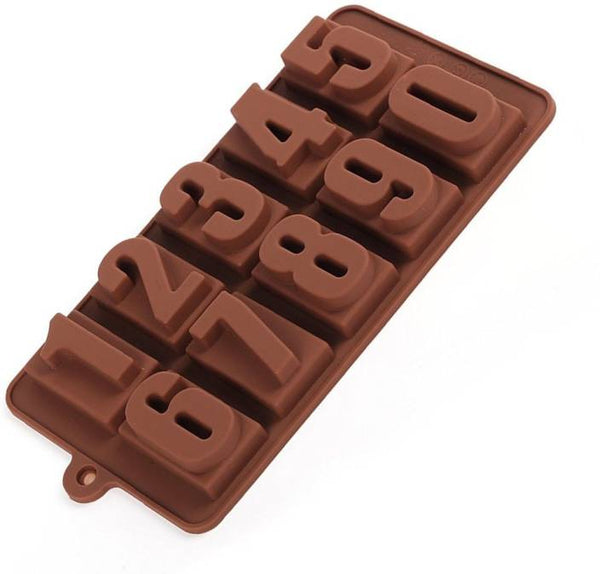 Number Chocolate truffle silicone mould, W
