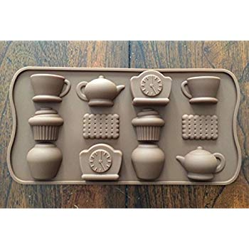 Chocolate truffle silicone mould, tea party, A