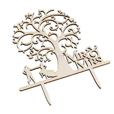 Wooden  wedding tree cake topper, (Nr144)