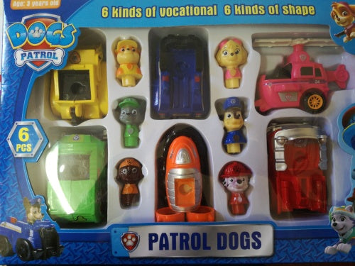 Kids Toys Action Figure: Paw Patrol Figurines With Cars