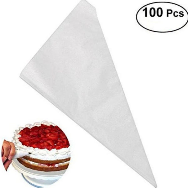 100 Large Plastic Piping bags, 34cm long