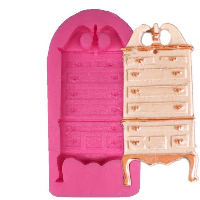 Chest of draws silicone mould, beauty and the beast, 8x3.5cm