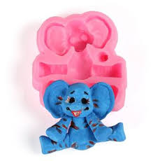 Silicone mould Elephant size 6cm