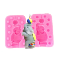 3D Circus elephant silicone mould, 2.7x8x2.5cm