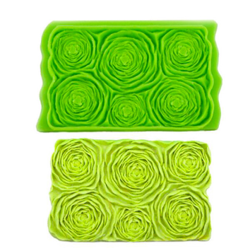 Peony Flower silicone onlay mat, 15x9.5cm, G
