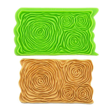 Rose FLower silicone onlay mat, 15x9.5cm, D