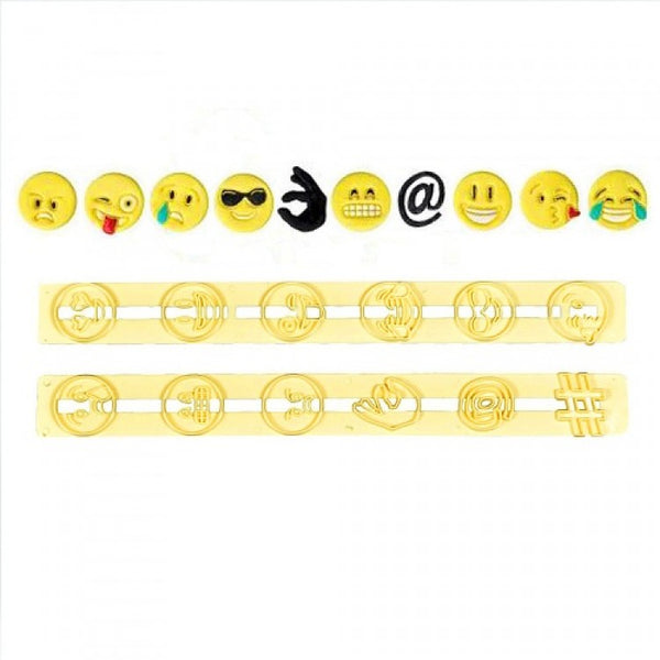 Emoji expression icon plastic tappits cutters