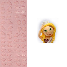 Silicone fondant various Figurine eyes mould, size of mould 6x14.5cm