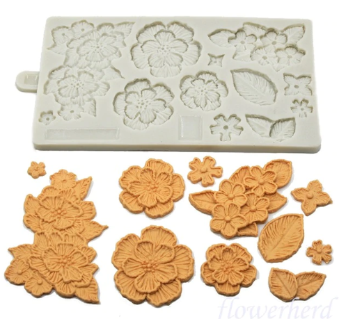 Brush Embroidery Flower silicone mould