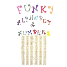 Fancy curly Alphabet and numbers fondant ruler cutter embosser, 3.5cm, Tappits