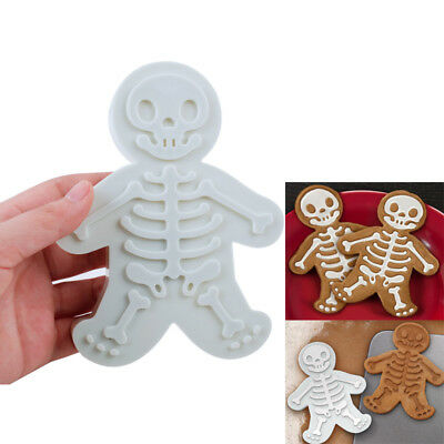 Skeleton gingerbread man plastic cookie cutter, 14x10.9cm