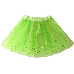 adult lady tutu skirt - green 60cm, glitter