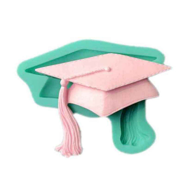 Graduation Hat silicone mould, 8.3x6.4cm