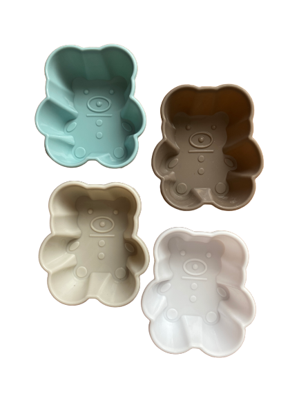 Homezaza set of 4 teddy moulds. Use for baking or soap making