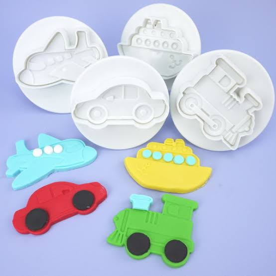 Fondant plunger Transport cutter. boat, train, plane. car