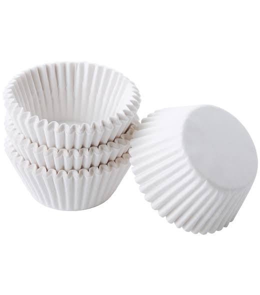 100 piece White Cupcake holders wrappers