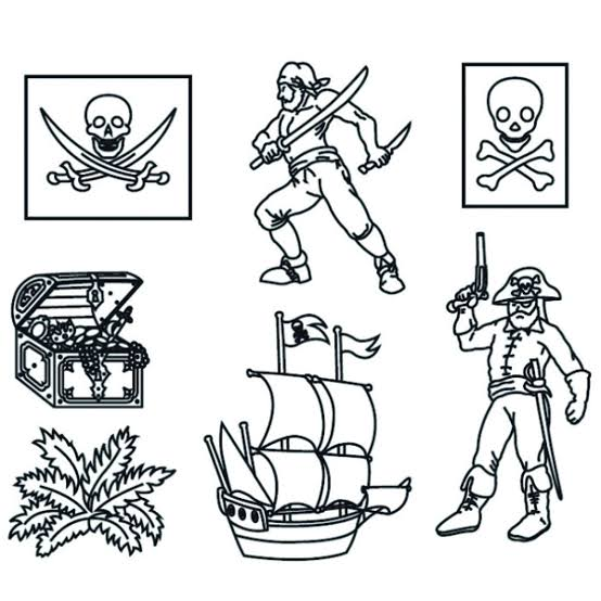 Nautical Pirate Silhouette cutter set