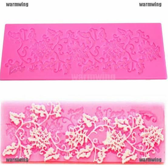 Silicone lace mould 17x5cm