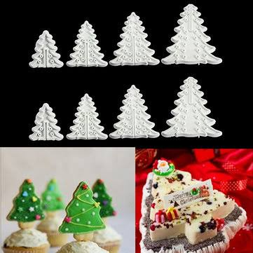Christmas tree fondant / cookie plunger cutter set