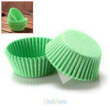 100 piece green  Cupcake holders wrappers