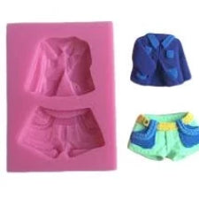 Silicone jacket and pants fondant mold size of mould 7x5cm