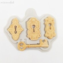 Keyholes and key silicone  mould, middle keyhole 5x3cm