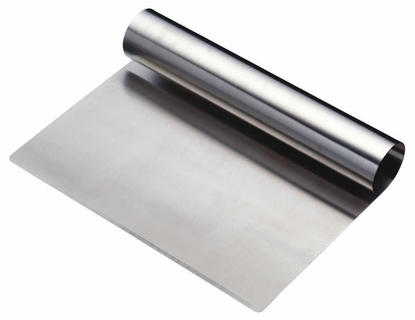 Stainless steel cutter and scraper 15cm. Bench scraper