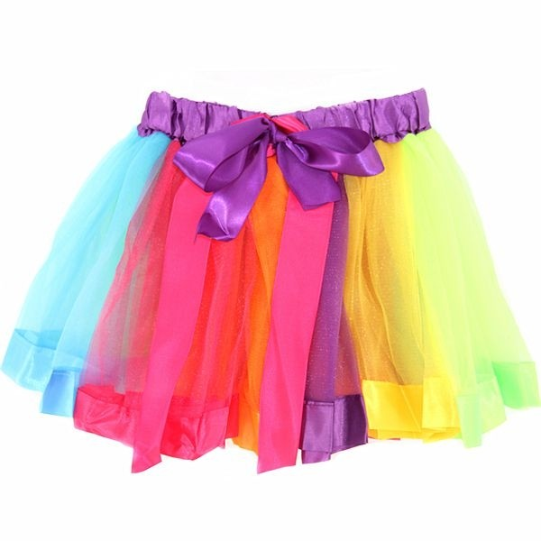 30cm Girls tutu skirt with ribbon, kiddies