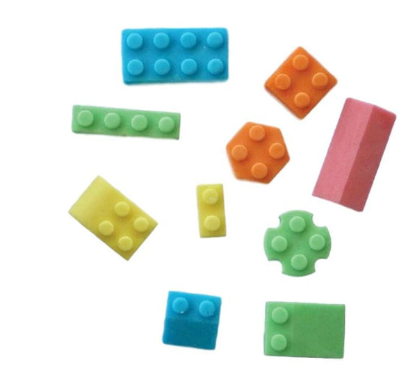Lego blocks silicone mould, Top Blue Block: 2.8x1.2cm