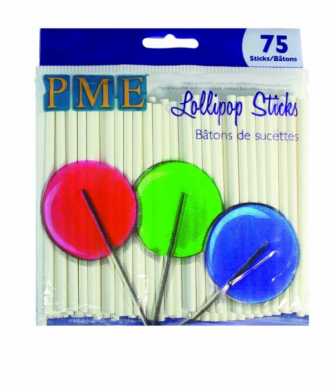PME Lollipop Sticks, 9.5cm, 75pc