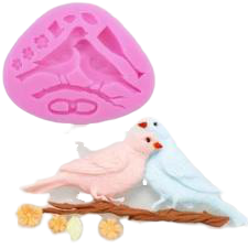 Love Birds silicone mould, birds 9.5x5.5cm