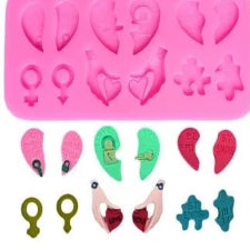 Heart lovers silicone mould, for fondant, size of mould 8x6cm