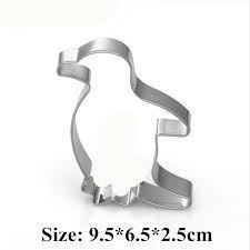 Penguin cookie cutter metal, 9x5cm