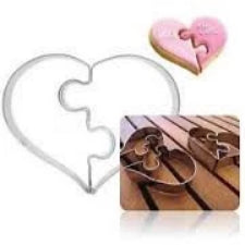 Valentine Puzzle Heart cookie cutter metal, 9x7.5cm