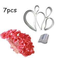 Cockscomb or Paisley Metal Fondant cutters