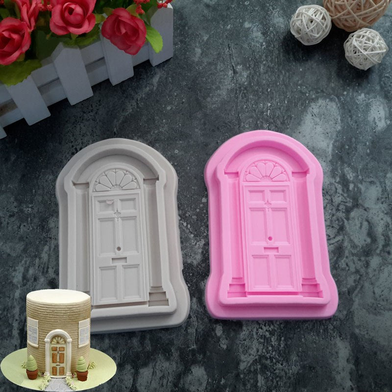 Retro Door Silicone Mould, size of mould 11.5x6.5cm