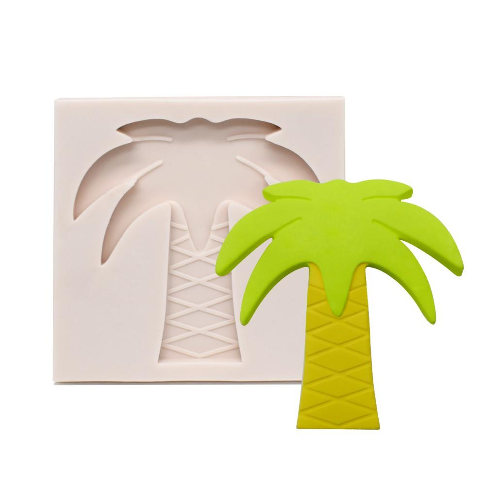 Palm tree silicone mould, 7.2x7.5cm