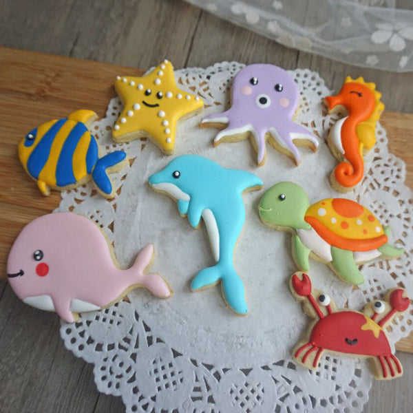 Under the sea plastic cookie cutters