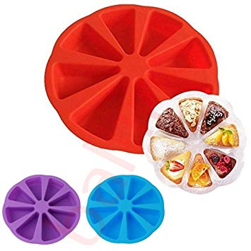 Silicone mould pizza cake slices